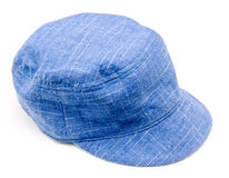 Blue hat. A blue hat on a white background Royalty Free Stock Image