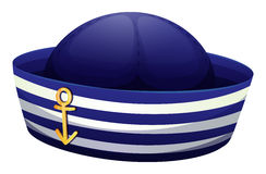 A blue hat with an anchor Stock Photography
