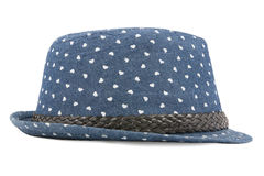 Blue  hat isolated on a white Royalty Free Stock Photo