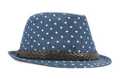 Blue  hat isolated on a white Stock Photo