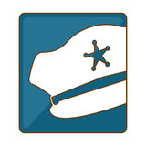 blue hat police icon image Stock Photos
