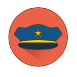 blue hat police icon image Royalty Free Stock Photo