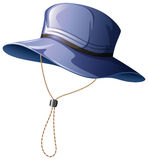 Blue hat with string Royalty Free Stock Photos