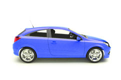Blue hatchback car Royalty Free Stock Image