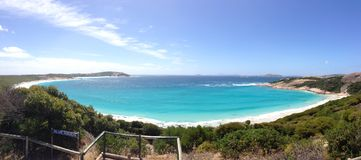 Blue Haven Panorama. In Esperance Western Australia Royalty Free Stock Photography