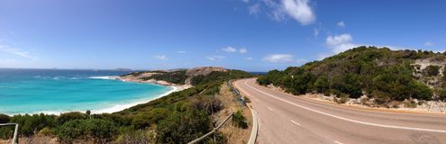 Blue Haven Panorama. Blue Haven and twilight road Panorama in Esperance Western Australia royalty free stock photos