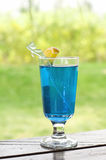 Blue Hawaian Cocktail Royalty Free Stock Photography