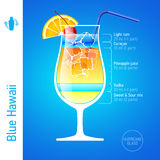 Blue Hawaii cocktail Royalty Free Stock Photography