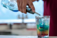 Blue Hawaii  Cocktail royalty free stock images