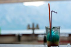 Blue Hawaii drink royalty free stock images