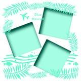 Blue Hawaii scrapbook Stock Photography