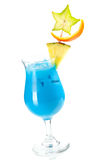 Blue Hawaii tropical cocktail Royalty Free Stock Photography