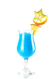 Blue Hawaii tropical cocktail Royalty Free Stock Photos