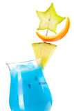 Blue Hawaii tropical cocktail Stock Photos