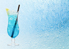 Blue Hawaiian cocktail Royalty Free Stock Photos