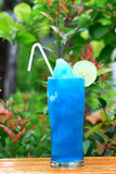 Blue Hawaiian cocktail blend Stock Photography