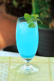Blue hawaiian cocktail Royalty Free Stock Image