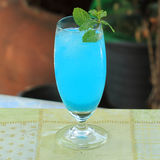 Blue hawaiian cocktail Stock Images