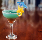 Blue hawaiian tropical cocktail Royalty Free Stock Photography