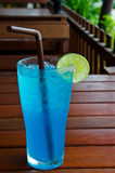 Blue Hawaiian drink soda stock images