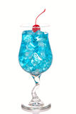 Blue Hawaiian Lagoon Cocktail with with malibu Royalty Free Stock Image