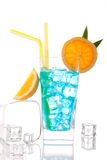 Blue hawaiian  lagoon curacao cocktail Royalty Free Stock Image