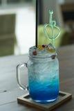 Blue Hawaiian sodas Stock Photos