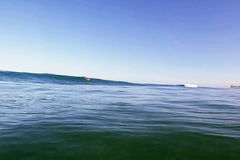 Blue Hawaiian Surfing Wave. An ocean wave breaking near the shore on the island of Oahu, in Hawaii, USA stock video