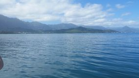 Blue Hawaiian Waters. The view off the coast of Kaneohe, Hawaii Stock Photo