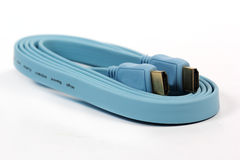 Blue HDMI cable Stock Image