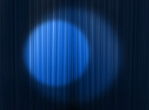 Blue headlights. Blue curtain of a classical theater Royalty Free Stock Image