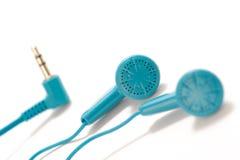 Blue headphones Royalty Free Stock Image