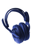 Blue headphones isolated Royalty Free Stock Images