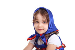 The blue headscarf Royalty Free Stock Image