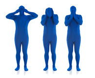 Blue: Hear No Evil, See No Evil, Speak No Evil Royalty Free Stock Image