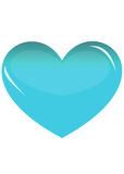 Blue heart. On white background Royalty Free Stock Photo
