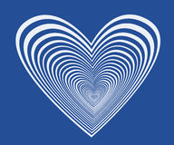 Blue heart. Heartin in a dark blue background Royalty Free Stock Photo