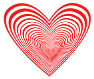 Blue heart. Heart-in in a dark blue background Royalty Free Stock Photo