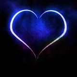 Blue heart royalty free illustration