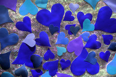 Blue heart Stock Photography