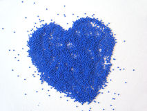 Blue heart. Made from beads Stock Photo