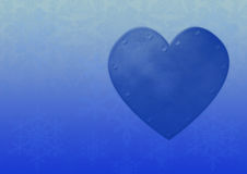 Blue heart background Stock Photo