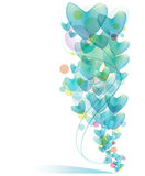 Blue heart balloon background Stock Images