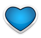 Blue heart button Royalty Free Stock Photo