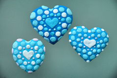 Blue heart  cookies  , Valentine`s Day   Stock Photography
