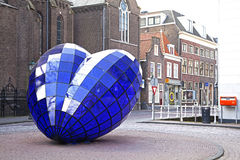 Blue heart in Delft Stock Photo