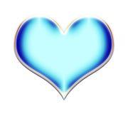 Blue Heart Illustration. Rasterized blue beveled heart isolated on a white background stock illustration