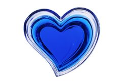Blue heart isolated on white background Stock Photos
