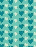 Hearts background in shades of blue, vector backgournd Stock Photography