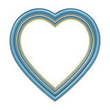 Blue heart picture frame isolated on white. Stock Photography